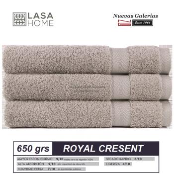 100% Baumwolle Handtuch Set 650 g / m² Grauer Stein | Royal Cresent