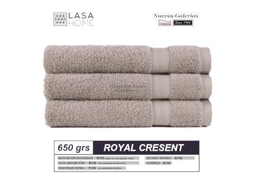 100% Cotton Bath Towel Set 650 gsm Gray stone | Royal Cresent