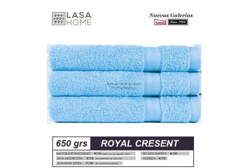 Toalla Algodón peinado 650 g / m² Azul Cielo | Royal Cresent