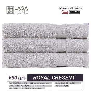 Serviettes 100% Coton 650 g / m² Platine | Royal Cresent