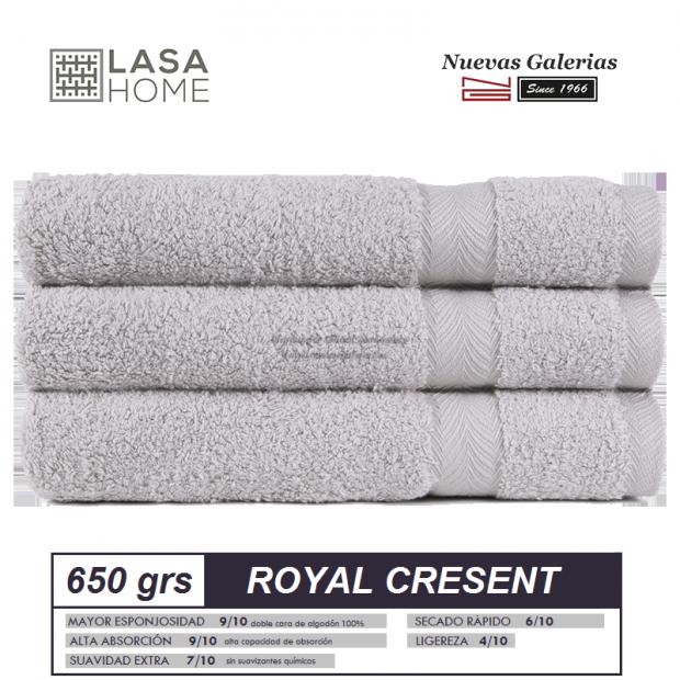100% Baumwolle Handtuch Set 650 g / m² Platin   Royal Cresent