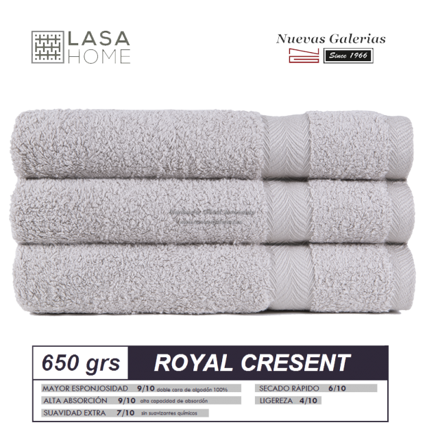 Toalla Algodón peinado 650 g / m² Platinum   Royal Cresent