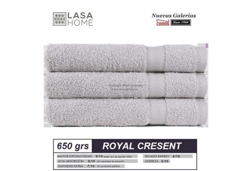 100% Baumwolle Handtuch Set 650 g / m² Platin | Royal Cresent