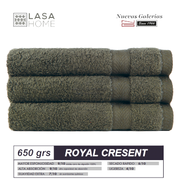 100% Cotton Bath Towel Set 650 gsm Bottle Green | Royal Cresent