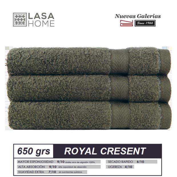 Asciugamani in cotone Verde bottiglia 650 grammi   Royal Cresent