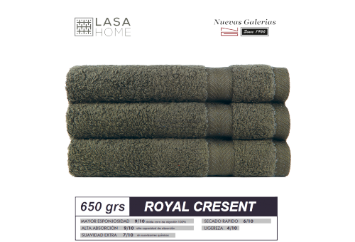100% Baumwolle Handtuch Set 650 g / m² grün Flasche | Royal Cresent