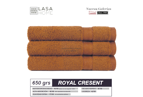 100% Cotton Bath Towel Set 650 gsm Yellow topaz | Royal Cresent