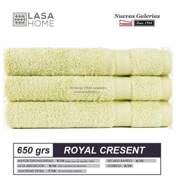 100% Baumwolle Handtuch Set 650 g / m² Pastellgrün | Royal Cresent