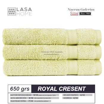 100% Cotton Bath Towel Set 650 gsm Pastel green | Royal Cresent