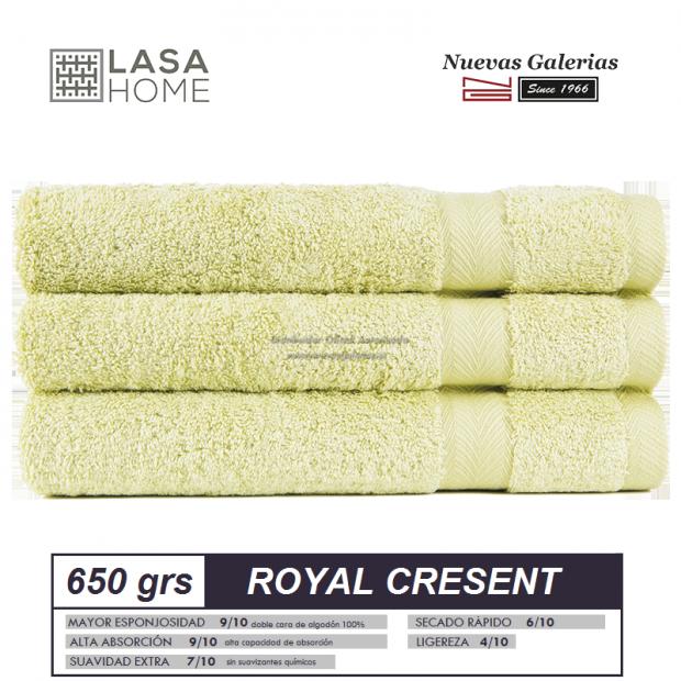 Asciugamani in cotone verde pastello 650 grammi | Royal Cresent