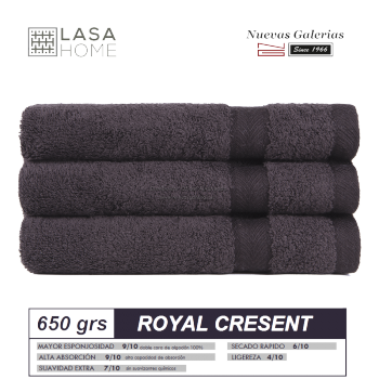 Toalla Algodón peinado 650 g / m² Marrón Chocolate | Royal Cresent