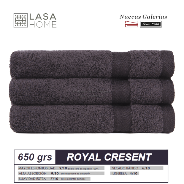 Serviettes 100% Coton 650 g / m² Chocolat brun   Royal Cresent