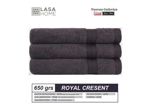 Toalla Algodón peinado 650 g / m² Marrón Chocolate   Royal Cresent
