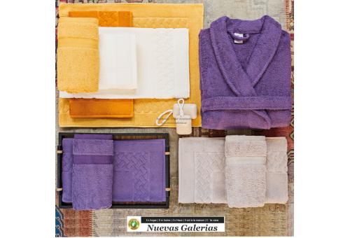 100% Cotton Bath Towel Set 650 gsm Purple plum | Royal Cresent