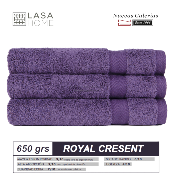 100% Cotton Bath Towel Set 650 gsm Purple plum | Royal Cresent