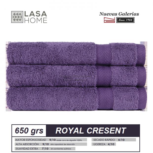 100% Baumwolle Handtuch Set 650 g / m² Lila Pflaume | Royal Cresent