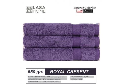 Toalla Algodón peinado 650 g / m² Ciruela morada | Royal Cresent