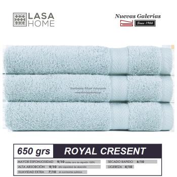 Toalla Algodón peinado 650 g / m² Azul Celeste | Royal Cresent