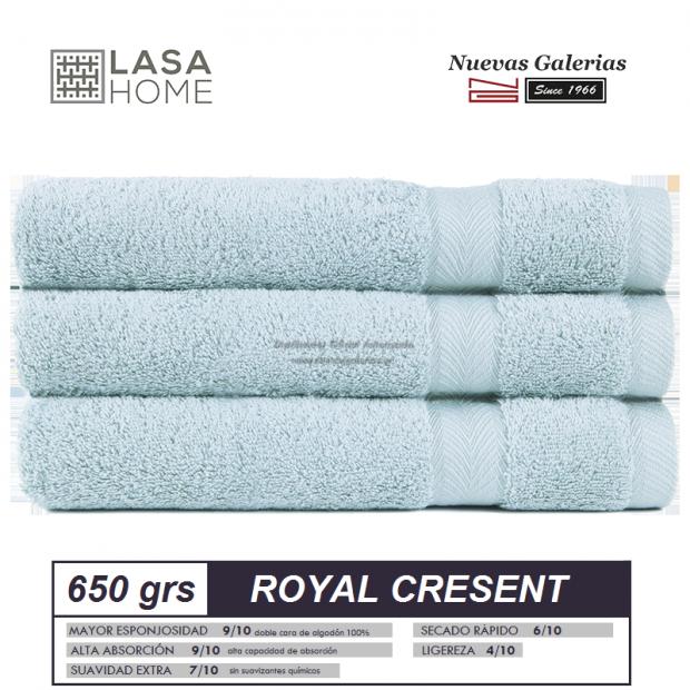 100% Cotton Bath Towel Set 650 gsm Pale Blue | Royal Cresent