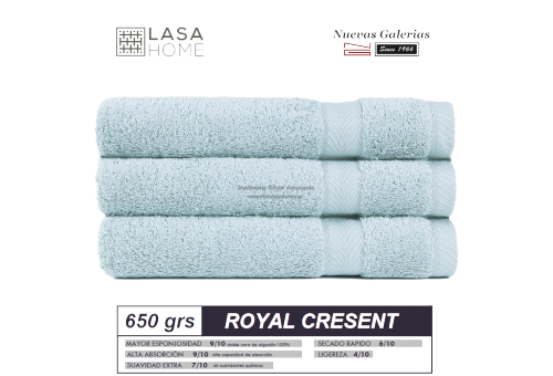 100% Cotton Bath Towel Set 650 gsm Pale Blue | Royal Cresent
