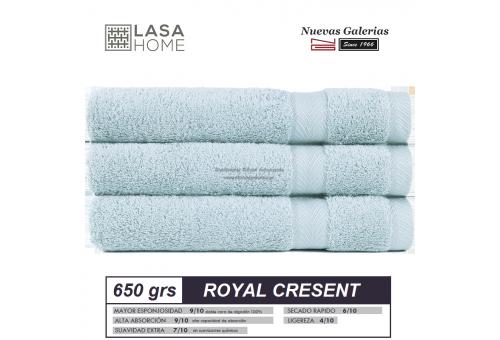 Toalla algod n peinado 650 g m azul celeste royal cresent nu - Toallas algodon peinado ...