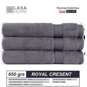 Serviettes 100% Coton 650 g / m² Gris acier | Royal Cresent