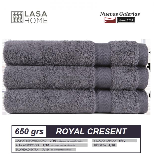 100% Baumwolle Handtuch Set 650 g / m² Stahlgrau | Royal Cresent