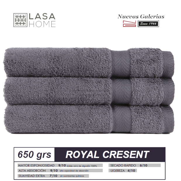 100% Cotton Bath Towel Set 650 gsm Steel Gray | Royal Cresent