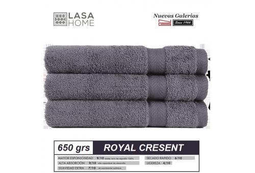 Toalla Algodón peinado 650 g / m² Gris Acero | Royal Cresent