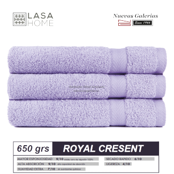 100% Cotton Bath Towel Set 650 gsm Lavander Blue | Royal Cresent