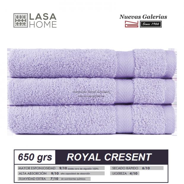 100% Baumwolle Handtuch Set 650 g / m² Lavendelblau | Royal Cresent