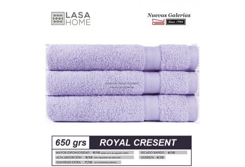 100% Cotton Bath Towel Set 650 gsm Lavander Blue | Royal Cresent