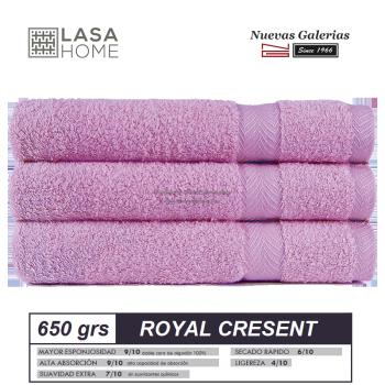 100% Baumwolle Handtuch Set 650 g / m² Rosa Lavendel | Royal Cresent