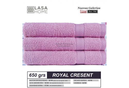 100% Cotton Bath Towel Set 650 gsm Pink Lavander | Royal Cresent