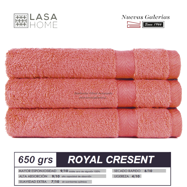 100% Cotton Bath Towel Set 650 gsm Red Terracotta | Royal Cresent