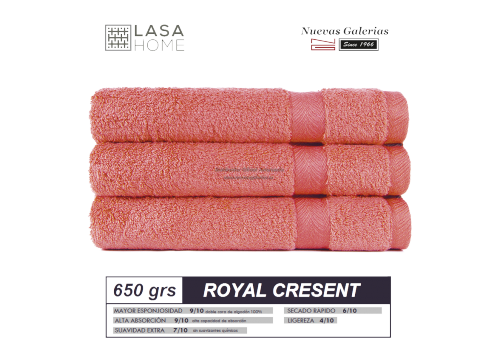 100% Cotton Bath Towel Set 650 gsm Red Terracotta | Royal Cresent