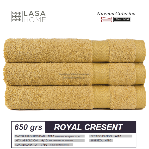 100% Cotton Bath Towel Set 650 gsm Lemon Quartz | Royal Cresent