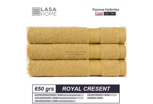 100% Baumwolle Handtuch Set 650 g / m² Gelber Quarz | Royal Cresent