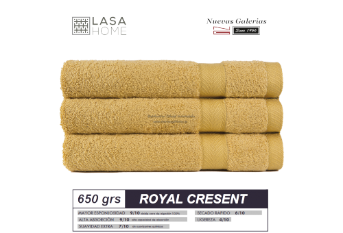 Toalla Algodón peinado 650 g / m² Amarillo Quartz | Royal Cresent