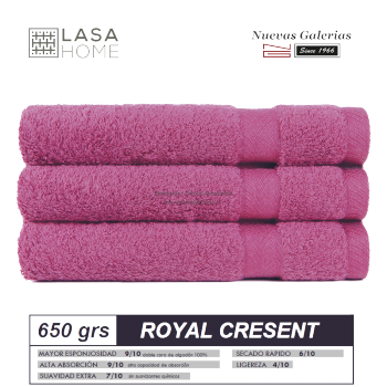 100% Cotton Bath Towel Set 650 gsm Rose Wine | Royal Cresent