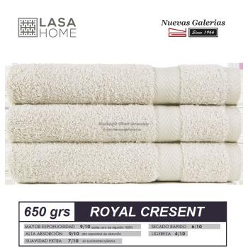 100% Baumwolle Handtuch Set 650 g / m² Graues Beig | Royal Cresent