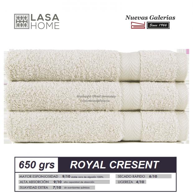 100% Baumwolle Handtuch Set 650 g / m² Graues Beig   Royal Cresent