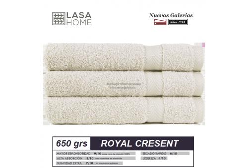 100% Cotton Bath Towel Set 650 gsm Gray beig | Royal Cresent