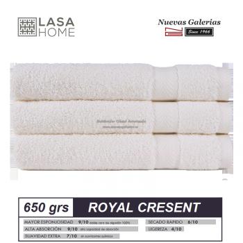 100% Baumwolle Handtuch Set 650 g / m² Sahne | Royal Cresent