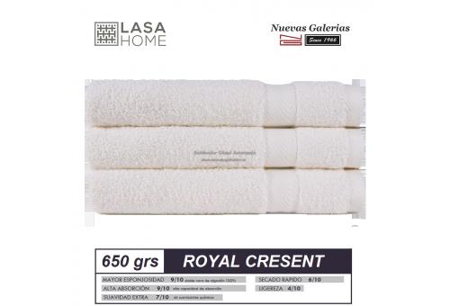Serviettes 100% Coton 650 g / m² Blanc Crème | Royal Cresent