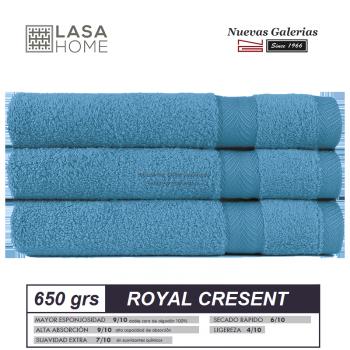 100% Cotton Bath Towel Set 650 gsm Blue sea | Royal Cresent
