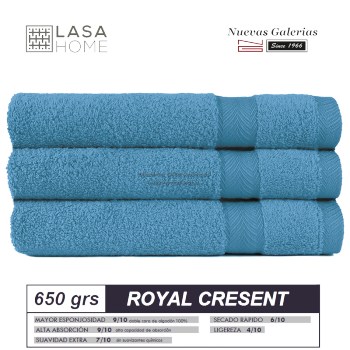 Toalla Algodón peinado 650 g / m² Azul mar | Royal Cresent