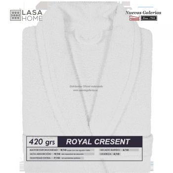 Bademantel Schalkragen Weiß | Royal Cresent