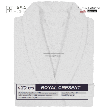 Shawl Collar Robe White | Royal Cresent