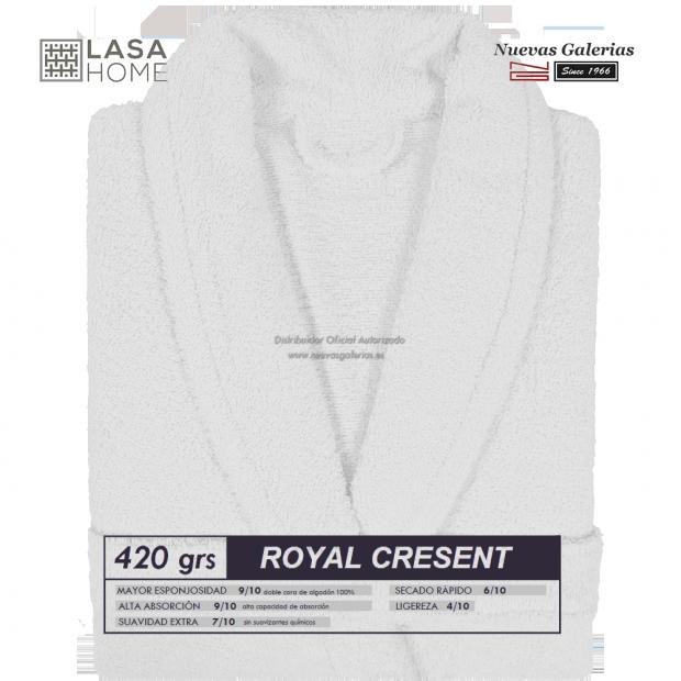 Peignoir col châle - Coton peigné Blanc | Royal Cresent